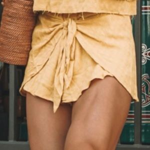 Cotton candy LA yellow shorts